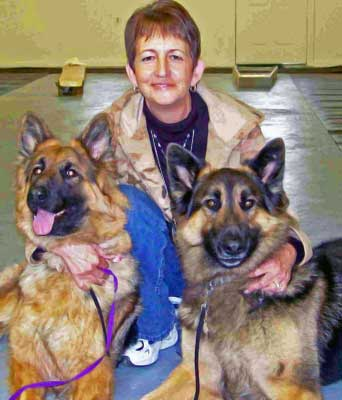 Diane Jahoples with dogs