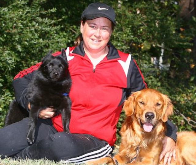 Beth Willingham with dogs