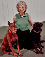 carol wetzel with her dogs